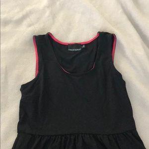 Black Sleeveless Dress with Pockets